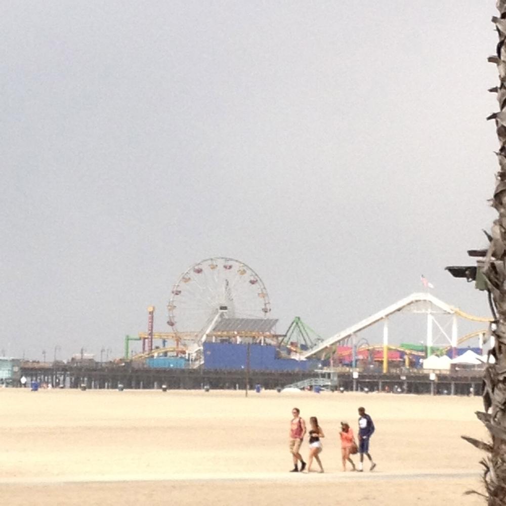 Had a nice view of the Santa Monica Pier