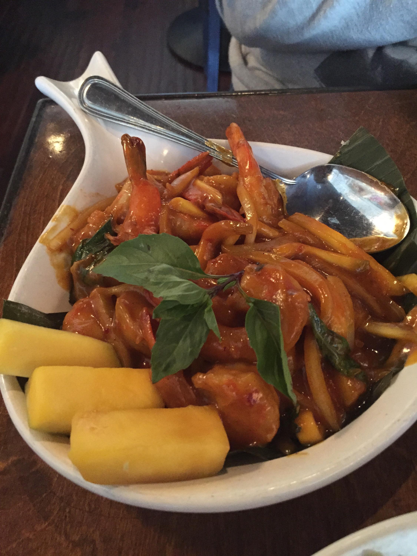Burma Superstar's Mango Shrimp